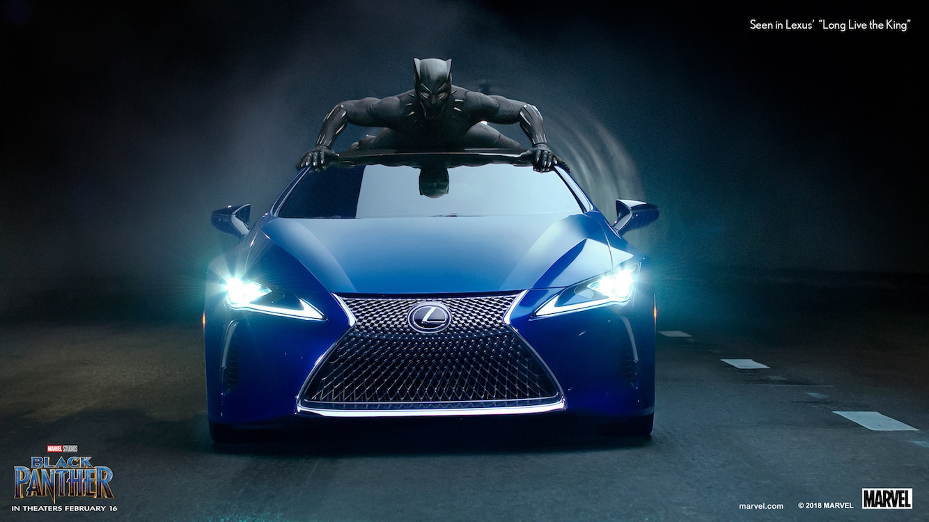 Lexus and its affiliation with Marvel Comics has its LS 500 F Sport feared in the new Black Panther movie