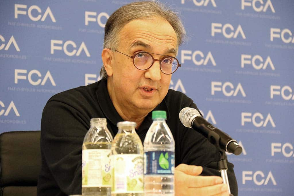 FCA CEO Marchionne Earns Nearly $12 Million in 2017