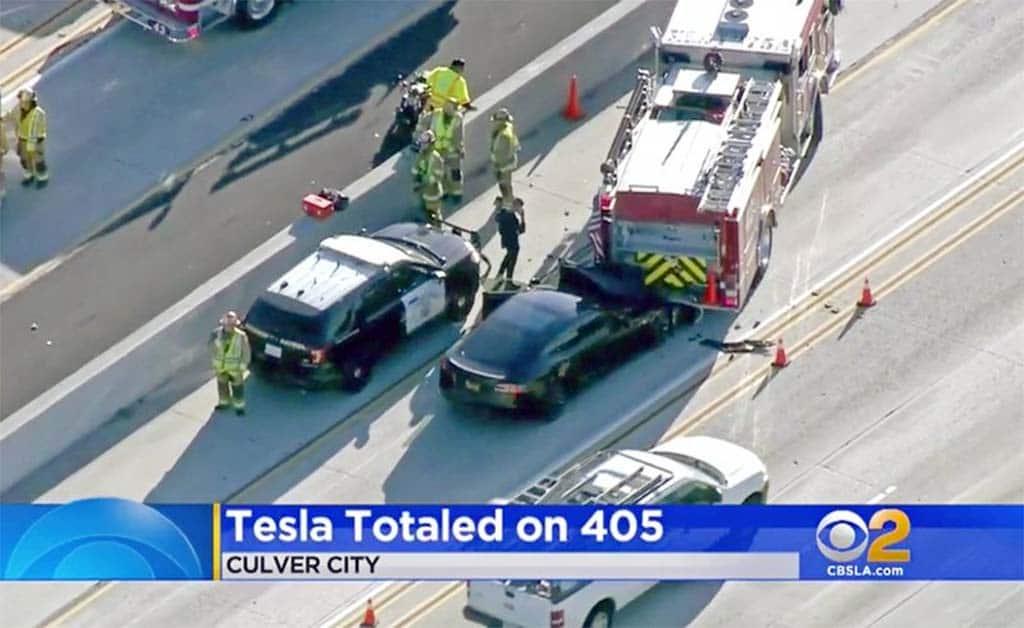 Tesla Autopilot Crash 1-18