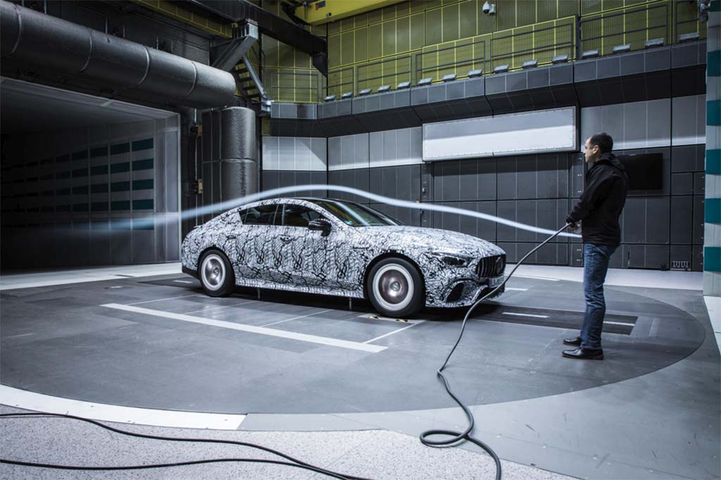 Mercedes-AMG GT 4-Door Coupe shows off in the wind tunnel
