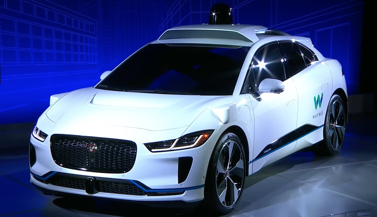Waymo to use Jaguar I-PACE electric vehicles in robotaxi program