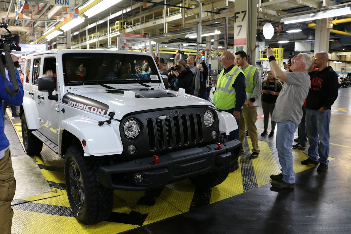Last Jeep Wrangler JK rolls off as factory tools for Wrangler truck