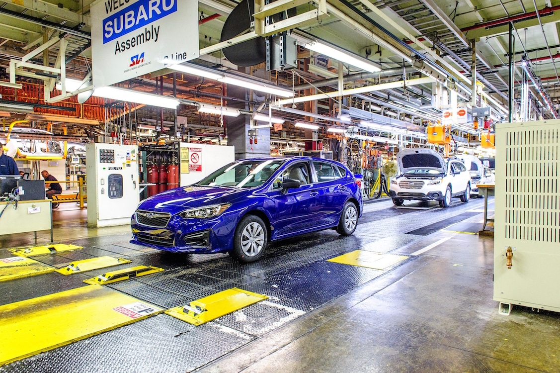 Subaru Slams on the Brakes at Japanese Plant