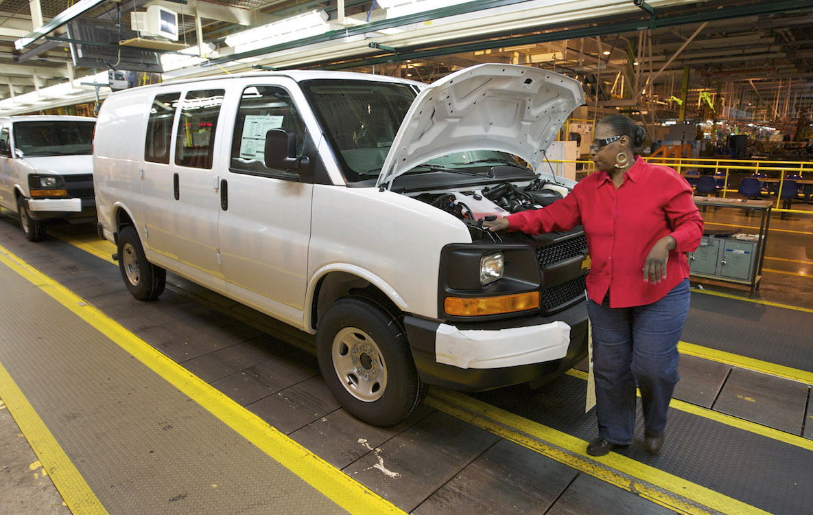 General Motors shut down production of its full-size van in Wentzville Missouri due to the Meridian fire