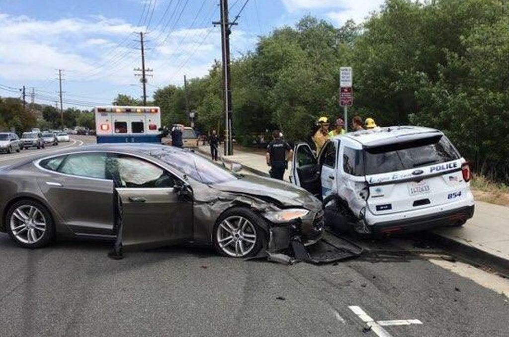 Tesla Laguna Beach crash