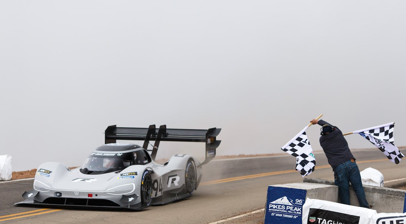 Volkswagen EV Racer Charges to Pikes Peak Record