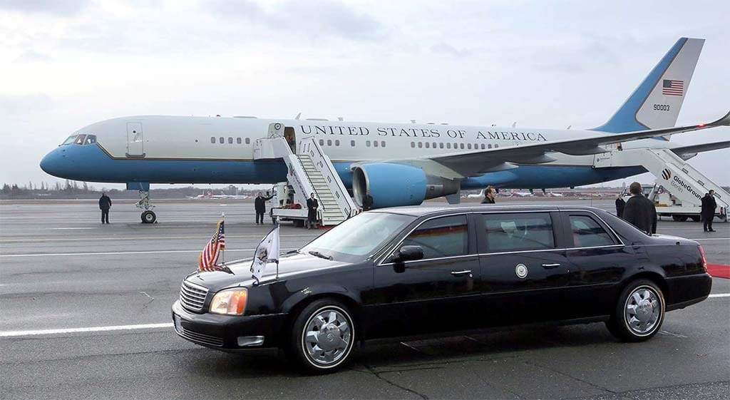"""Presidential Limos Not Always the """"Beast"""" Carrying Around 45"""