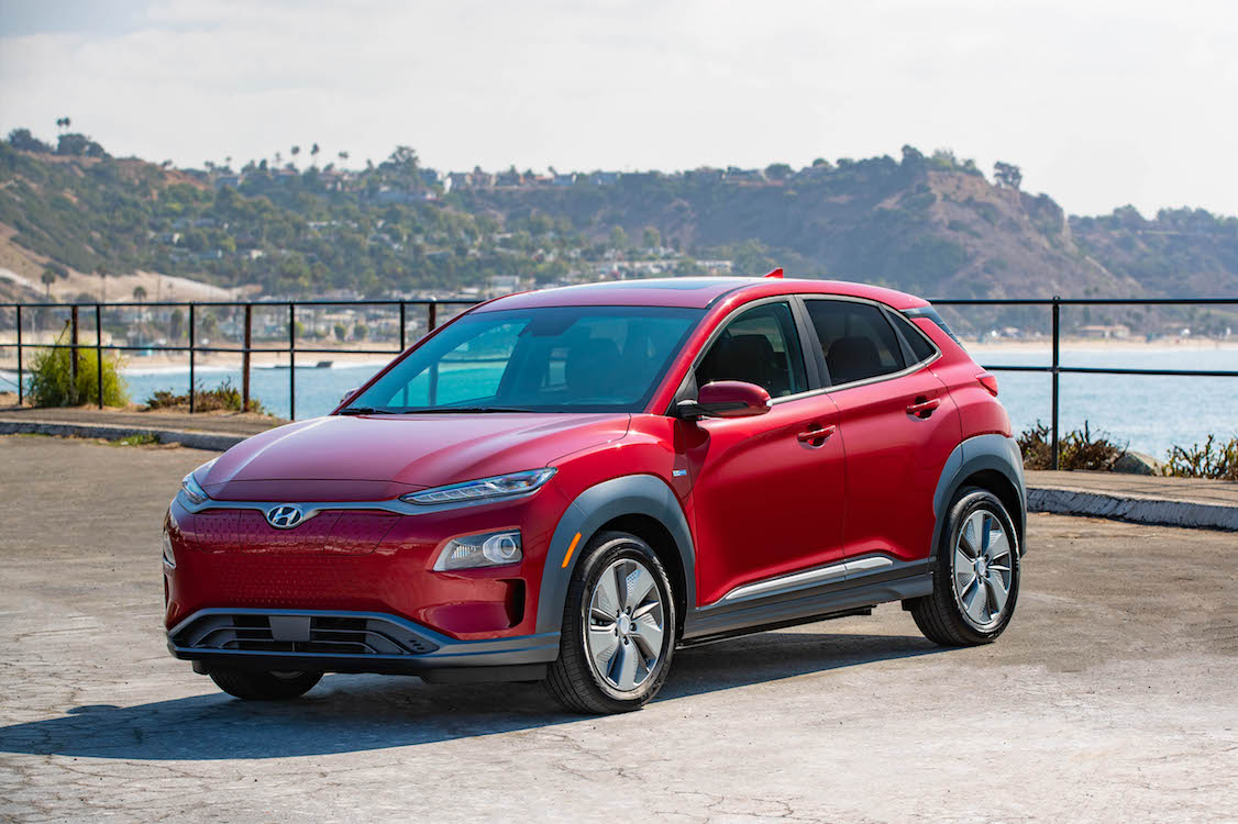 hyundai shows off electric version of kona crossover. Black Bedroom Furniture Sets. Home Design Ideas