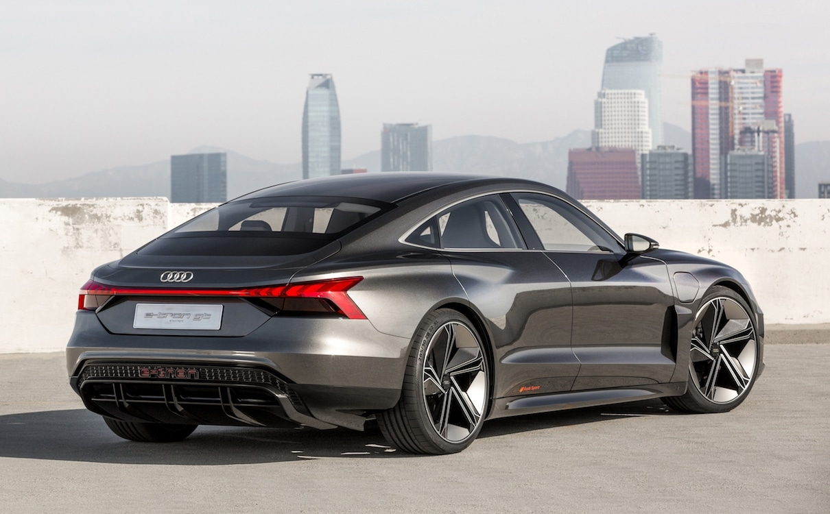 audi taps the iron man to reveal new e tron gt. Black Bedroom Furniture Sets. Home Design Ideas