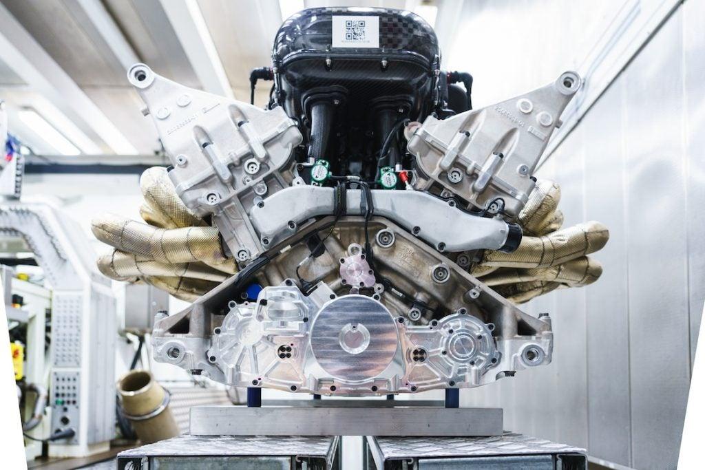 Aston Martin Valkyrie engine front