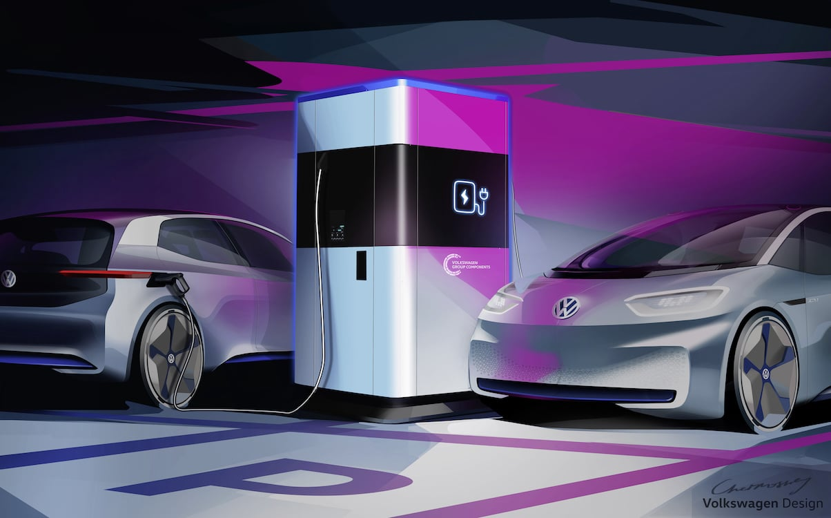 Volkswagen Testing New Portable EV Charging Stations