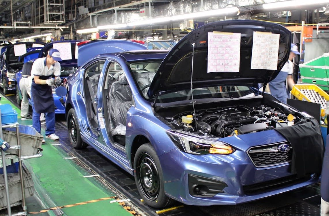 Subaru Resumes Auto Production After Part Problem