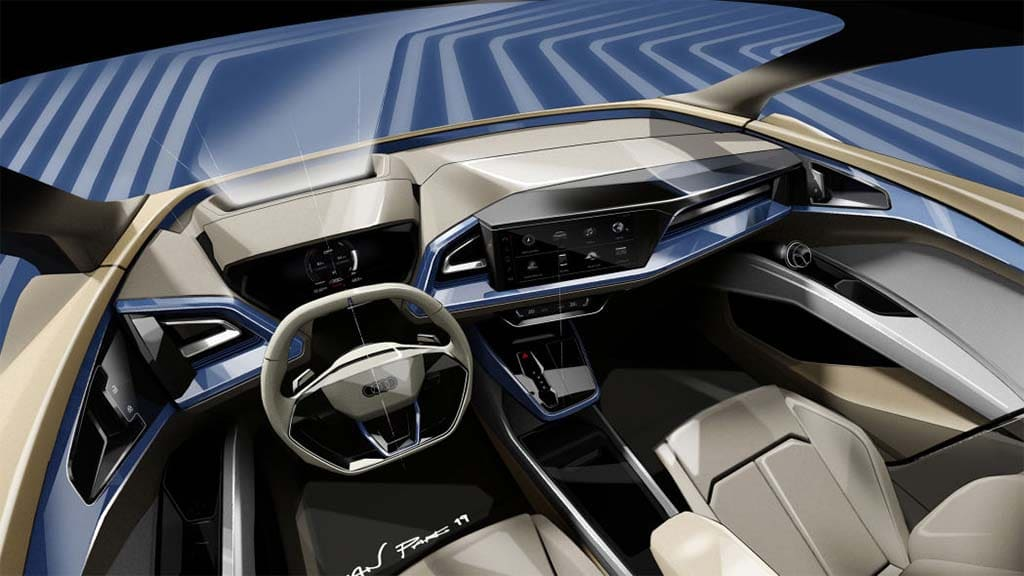 Audi Teases Q4 E Tron Concept Ahead Of Geneva