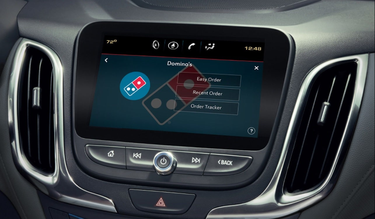 Order Domino's Pizza at Touch of a Button: In Your Car