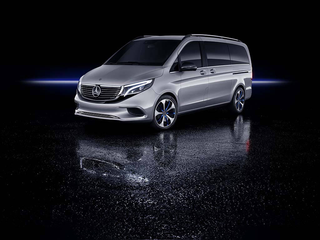 Mercedes-Benz Concept EQV is a Near Production-Ready Electric Minivan