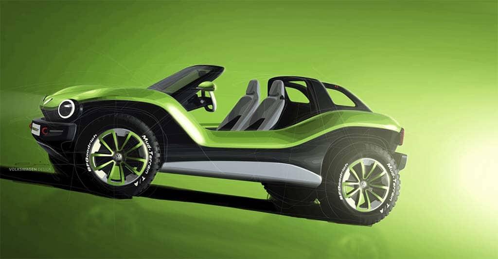 bugging  vw brings id buggy concept  geneva motor show thedetroitbureaucom