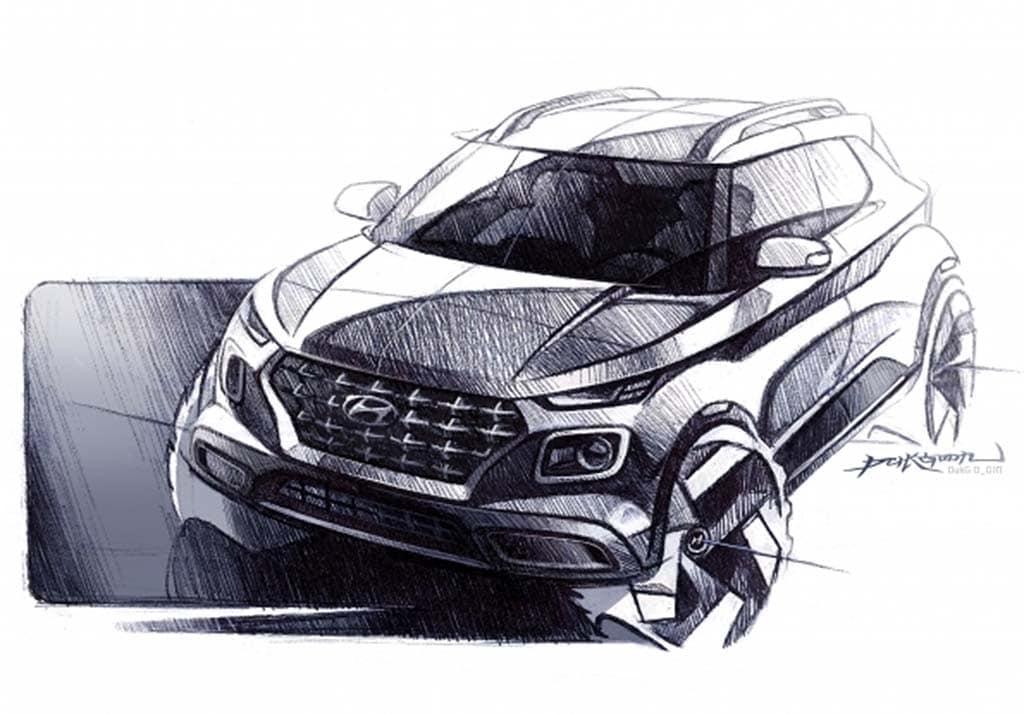 Hyundai Teases Tiniest SUV, Venue, Ahead of NYIAS Debut