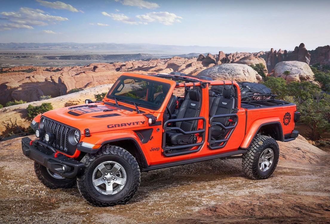 Jeep Wrangler pickup rendering