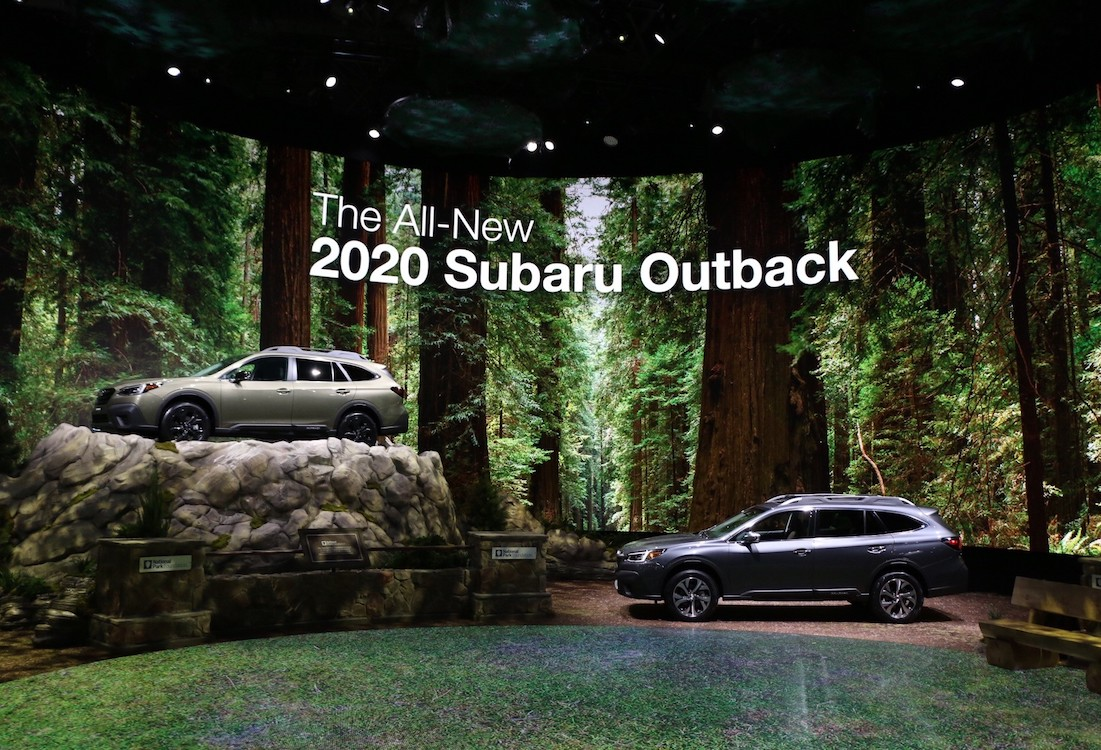 Subaru NYIAS Display Shows Commitment to National Parks