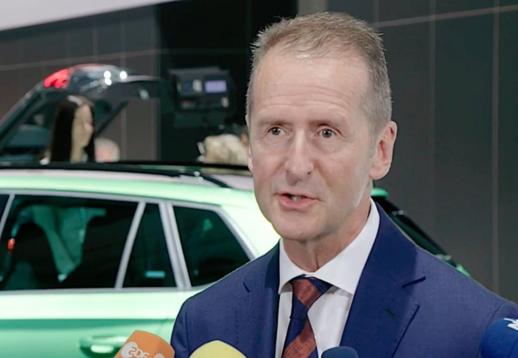 Volkswagen AG Chairman Herbert Diess