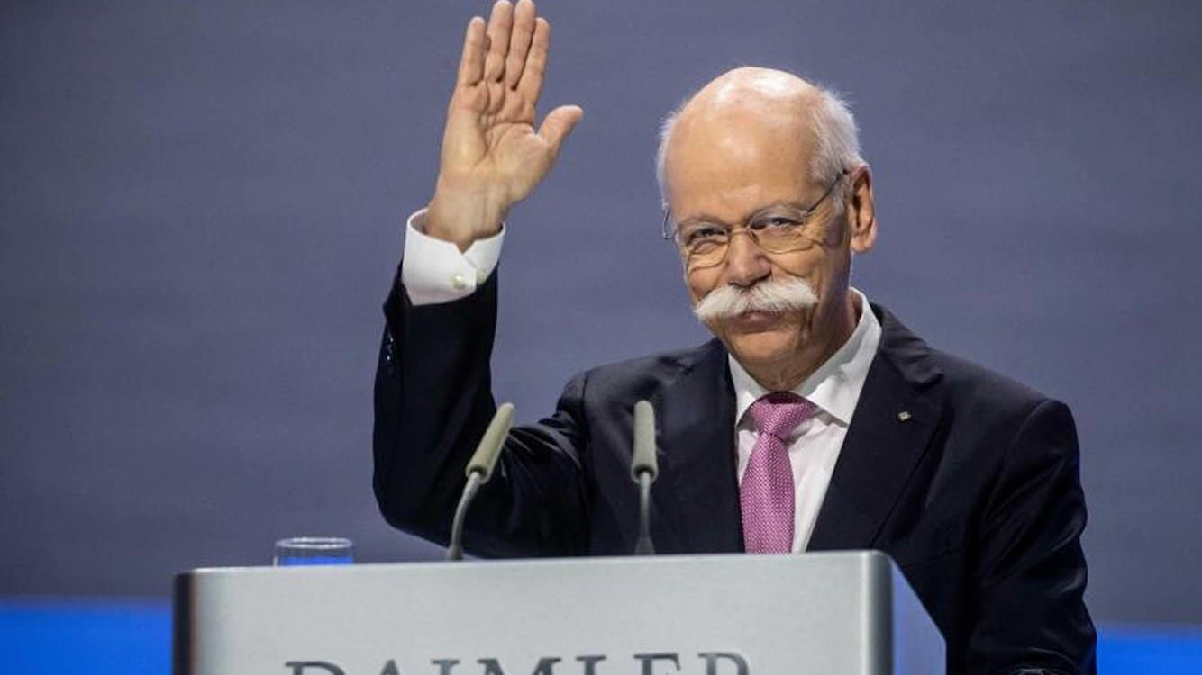 Former Daimler CEO Zetsche Declines Return in Chairman's Role