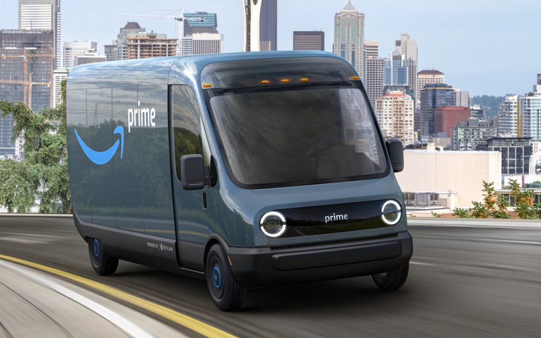 Amazon Orders 100k Rivian Vans as Part of Broad Environmental Campaign
