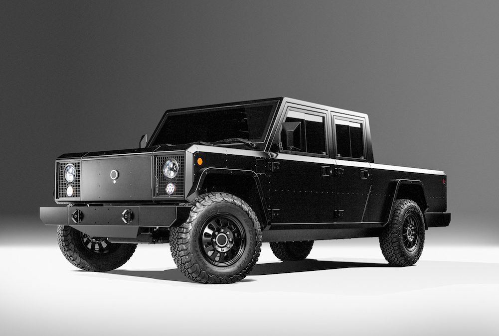 Bollinger Reveals First Battery-Pickup, SUV Models