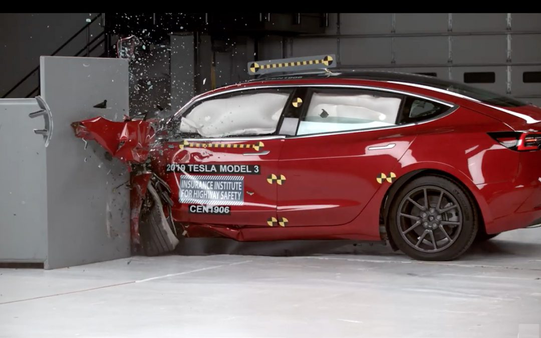 Tesla Model 3 Gets IIHS Top Safety Rating