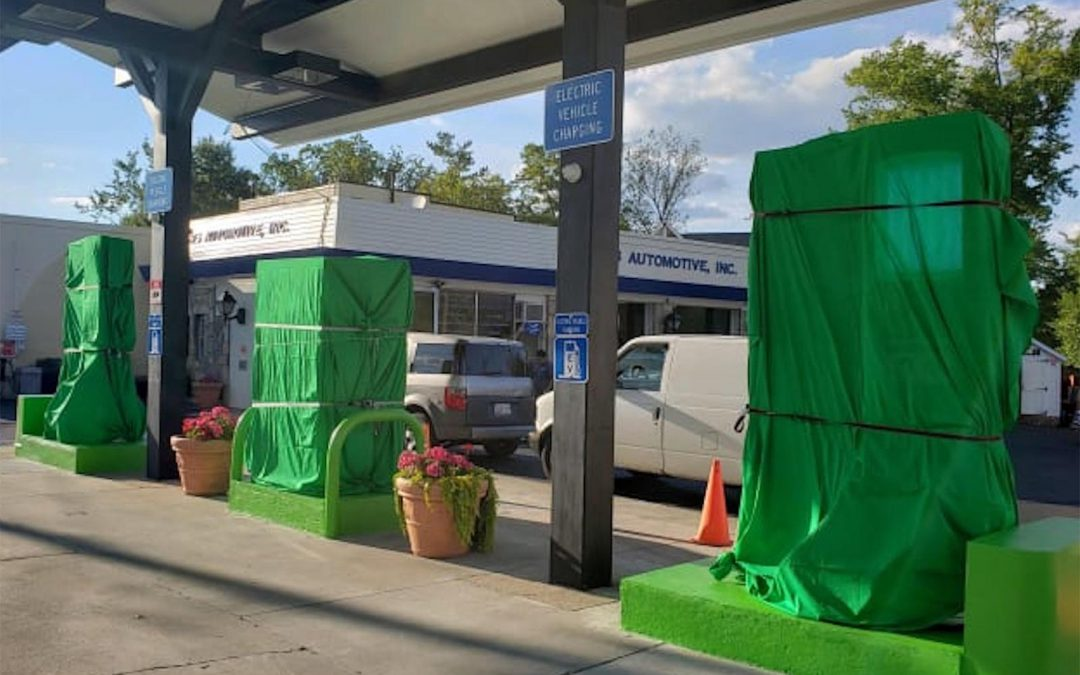 Maryland Gas Station Swaps Pumps for EV Chargers