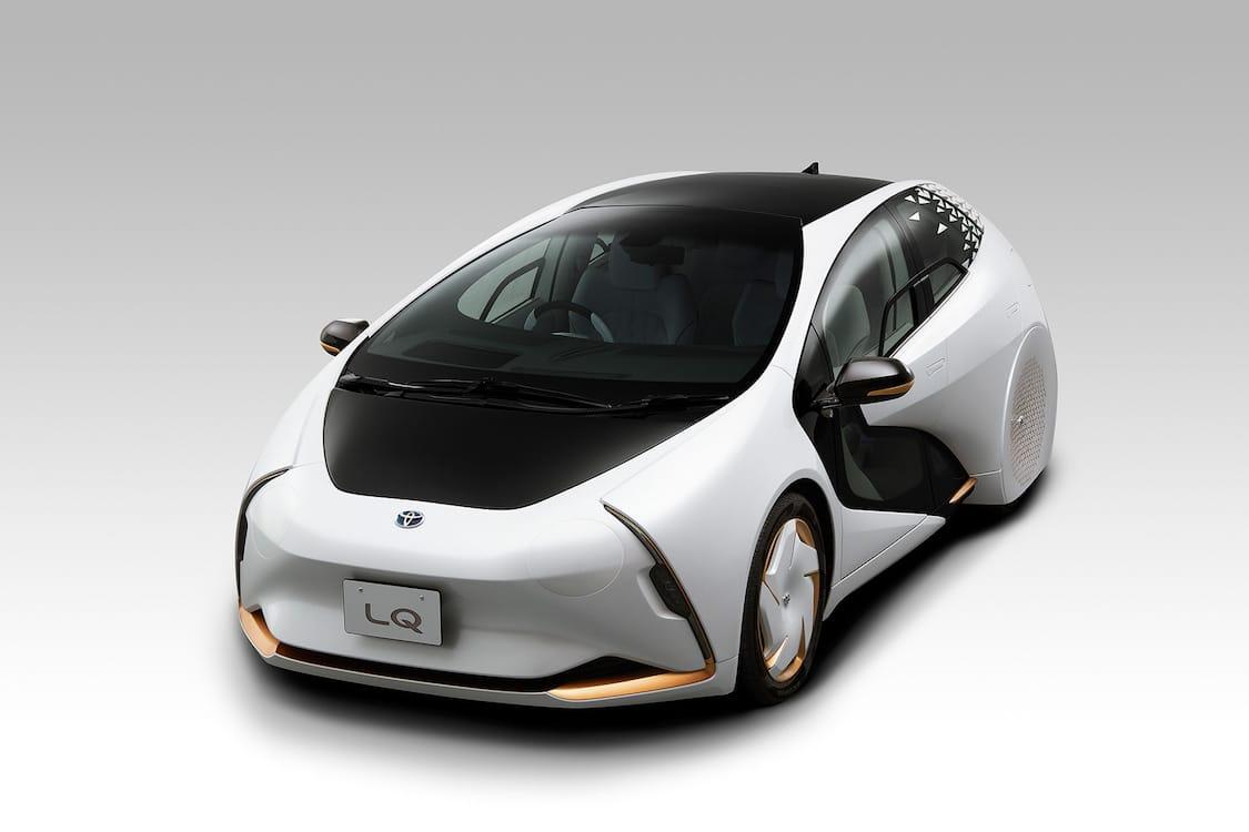 Toyota introduced the futuristic concept Autonomous electric vehicle LQ