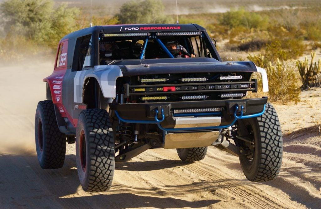 Ford Bronco R Baja 1000 Testing