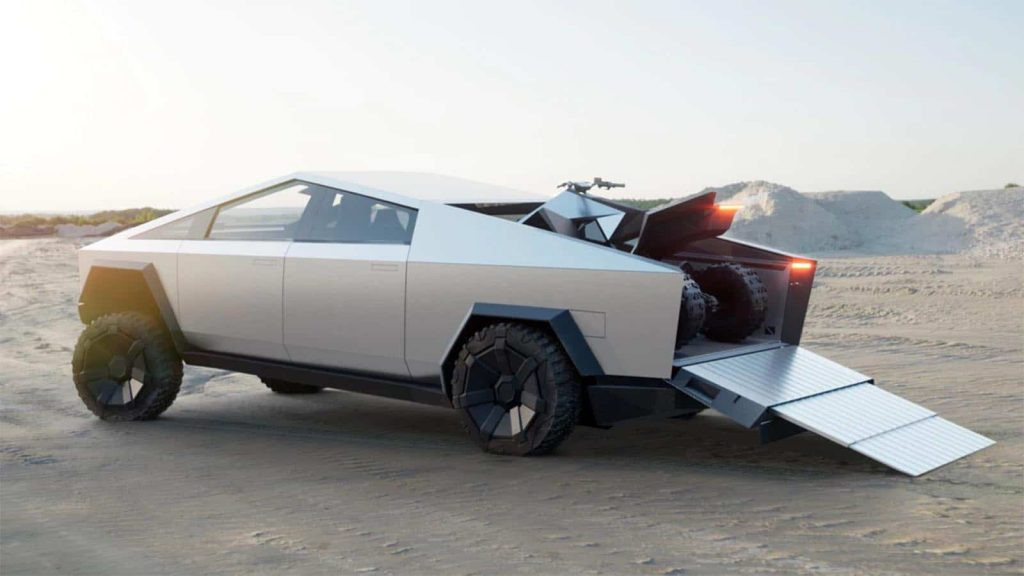Tesla Cybertruck - ramp extended