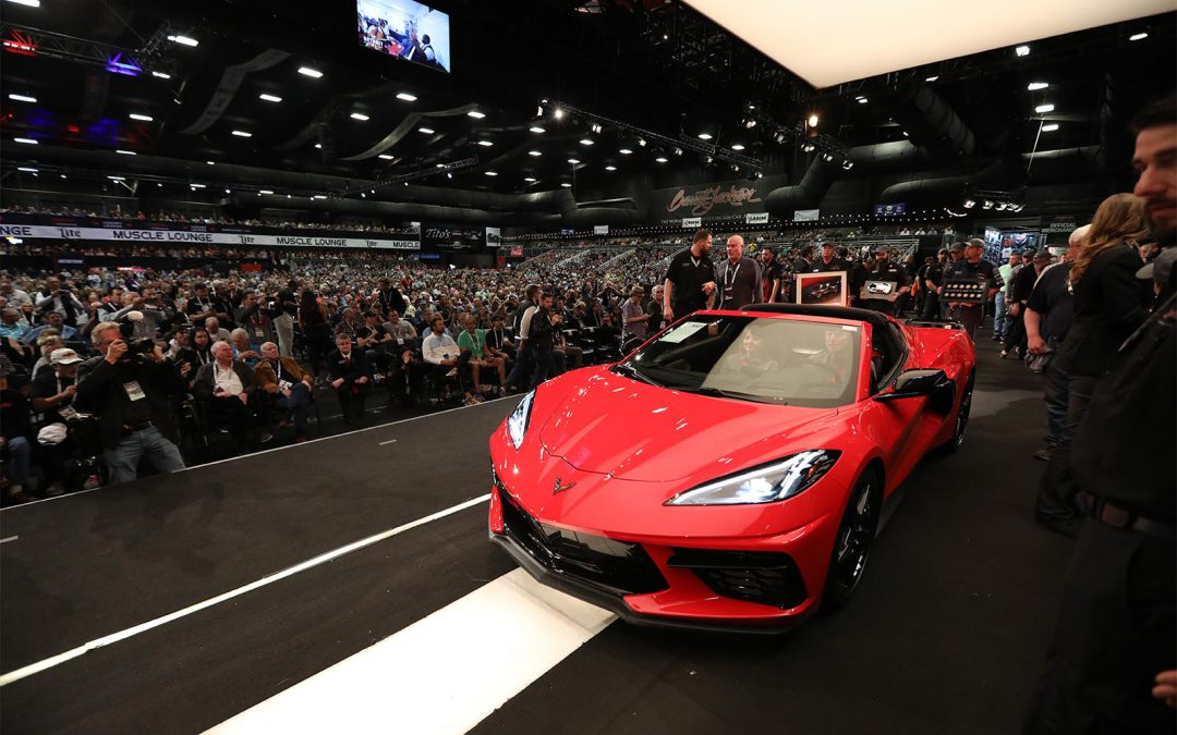 First Corvette C8 Draws $3 Million at Barrett-Jackson Auction