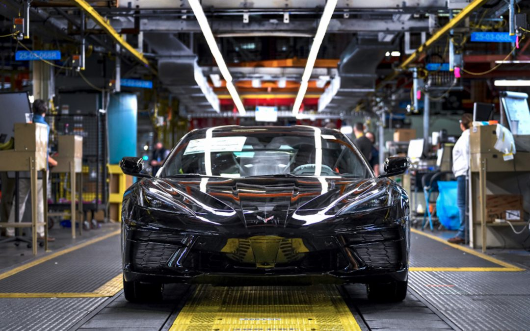 First 2020 Corvette Stingray Rolls Off Production Line