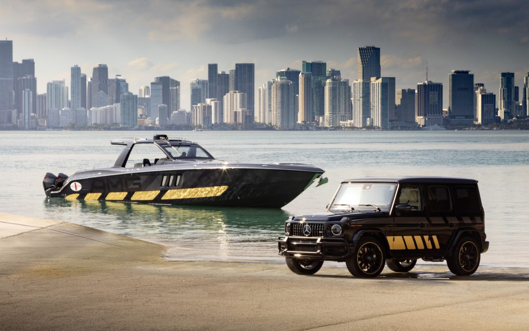Aqualove: Mercedes Reveals Unique AMG G63 and the 2,700hp Cigarette Boat to Go With It