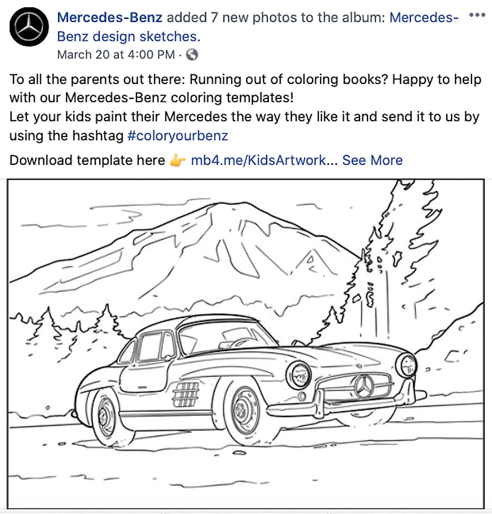 - Audi's Free Coloring Book Helps Pass Time During Shelter In Place