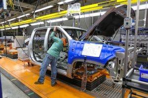 GM truck plant in Flint, Michigan