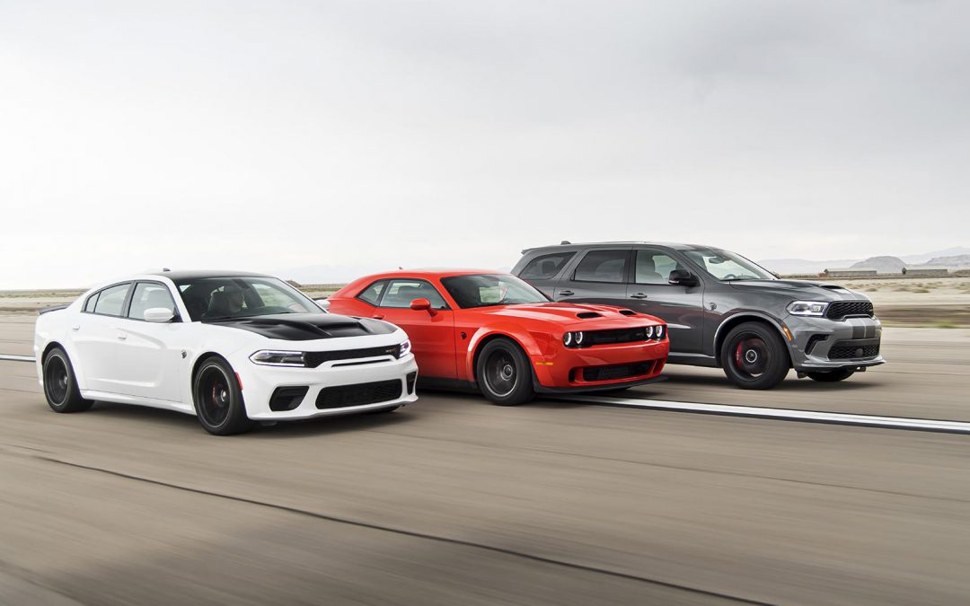 Dodge Ups the HP Numbers, Adds First Durango Hellcat, New Charger Redeye