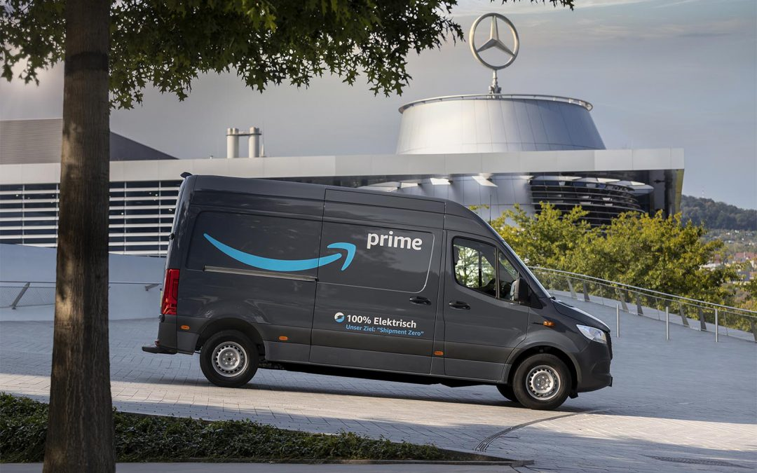 Amazon Orders 1,800 Electric Delivery Vans from Mercedes-Benz