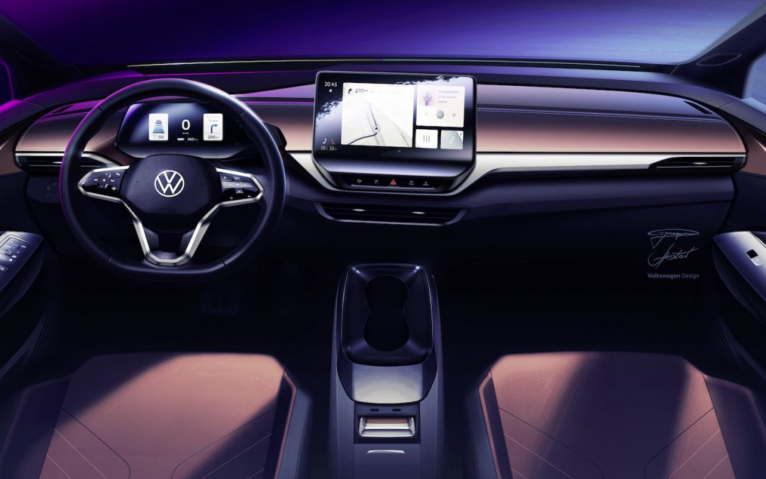 Volkswagen Offers Early Look at ID.4 EV's Interior