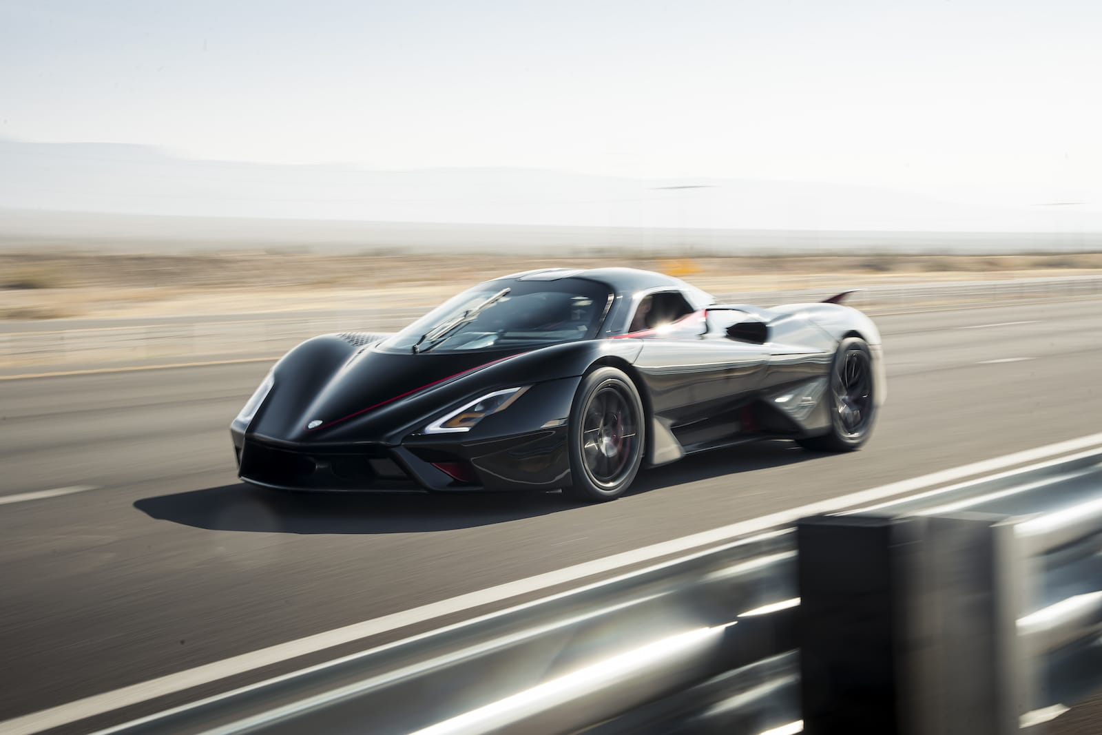 The SSC Tuatara set four new records including fastest production vehicle on a 7-mile stretch of Nevada highway