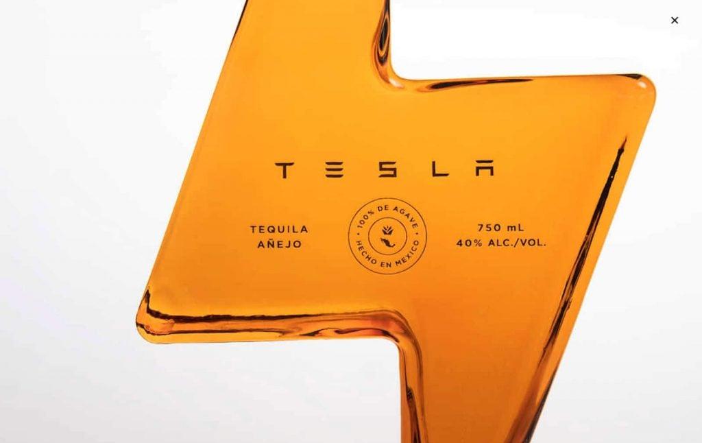 Tesla Tequila bottle