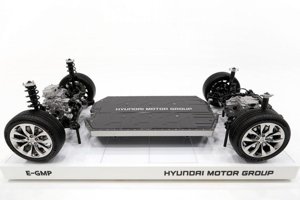 Hyundai E-GMP high angle