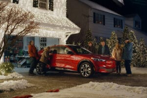 Ford Mustant Mach-E in Christmas Commercial