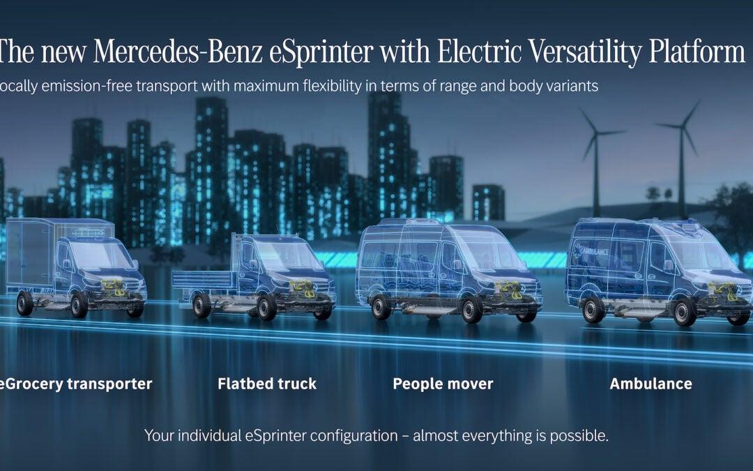 Mercedes-Benz Building Electric Sprinter Vans in U.S.