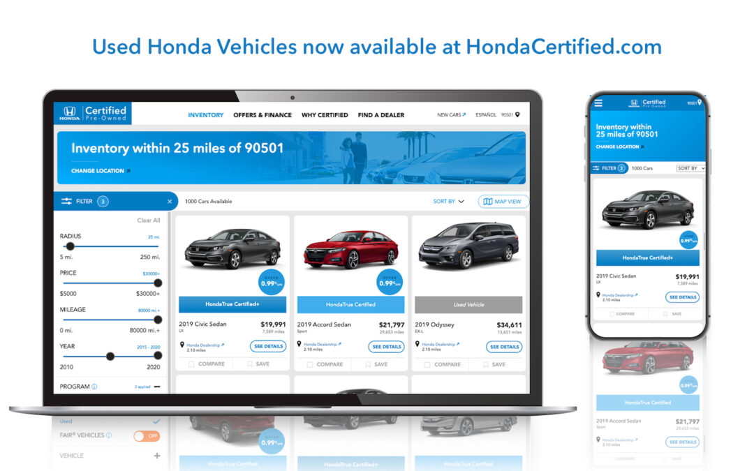 Used Cars Booming, Honda Takes Aim at Retailers Like CarMax, Carvana