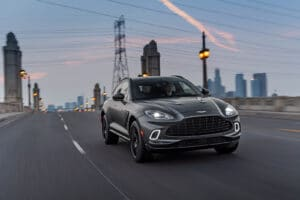 2021 Aston Martin DBX front driving