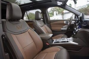 2021 Ford Explorer King Ranch seats