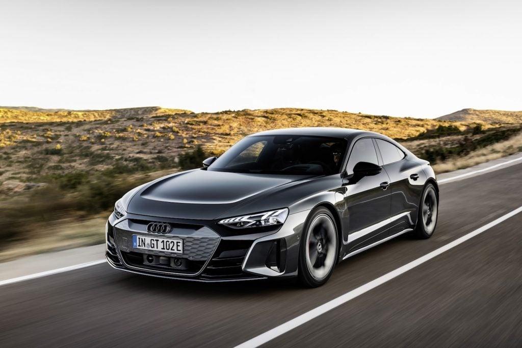 2022 Audi e-tron GT driving