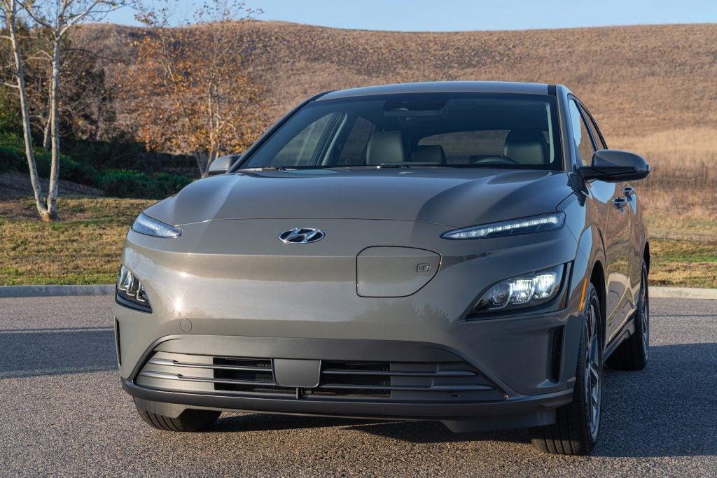2022 Hyundai Kona electric nose